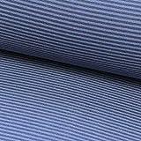 0,5m Bündchen-Schlauch Ringel Mittelblau-dunkelblau 108