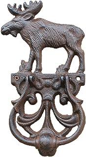 WGE Elks Cast Iron Door Knocker Gate Knocker, Vintage Outdoor Door Knocker for Garden Courtyard, Premium Front Door Knocke...