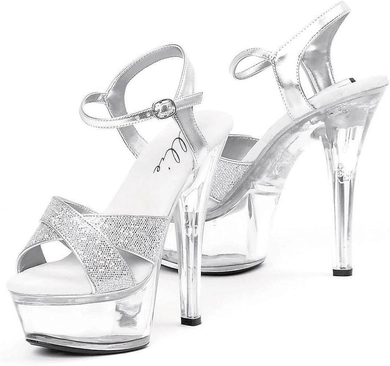 Ellie shoes Women's 601-JANIE 6  Heel Platform Sandal