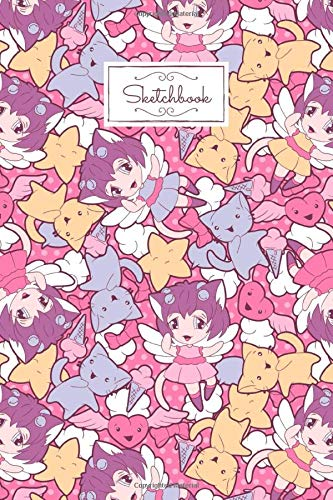 Chibi Anime Cat Girl Pattern Sketch pad Sketch book For Drawing, Doodling And Sketching | 120 pages | 6x9' | Sketchbook Sketchpad for Kids Teens and ... Fashion, Interior Designers, Illustrators