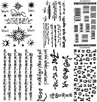 [THE FANTASY (ファンタジー)] タトゥーシール 英文字 漢字 バーコード [6種6枚]set225
