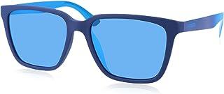 نظارات شمسية للرجال من لاكوست بلاستيك لون ازرق باطار مستطيل