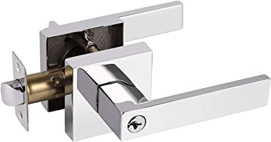 Gobrico Keyed Entry Door Lever with Lock in Polished Chrome Door Front Door Lock 1 Pack