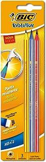 Lápis Plástico Preto Nº 2HB Sextavado, BIC, Evolution Pijama, 891672, 3 Unidades