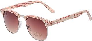 Morefaz - Gafas de sol unisex, estilo retro de los 80, cristales de espejo