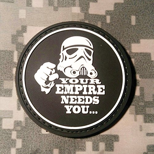 Your Empire Needs You Star Wars PVC Rubber Morale Patch by NEO Tactical Gear Morale Patch - Hook Backed (Black & White)