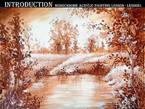 Introduction, Monochrome Acrylic Painting Lesson - Lesson 1