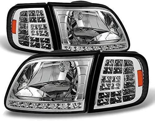 Headlight Assembly fits 01-03 Ford F-150 Pickup /& 04 Heritage Driver Headlamp