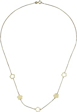 Dee Berkley - 14KT Yellow Gold Flower Station Necklace