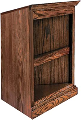 Forest Designs Corner Bookcase, 27W x 17D x 30H, Gray Oak