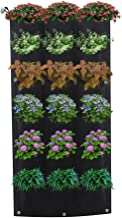 Plant Hanging Bags,18 Pockets Vertical Garden Wall Planter Living Hanging Flower Pouch Green Field Pot Felt Indoor/Outdoor Wall Mount Balcony Plant Grow Bag for Herbs Vegetables and Flowers