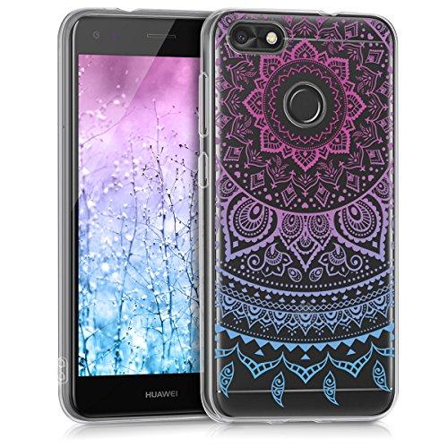 kwmobile Hülle kompatibel mit Huawei Y6 Pro (2017) / Enjoy 7 - Handyhülle - Handy Hülle Indische Sonne Blau Pink Transparent