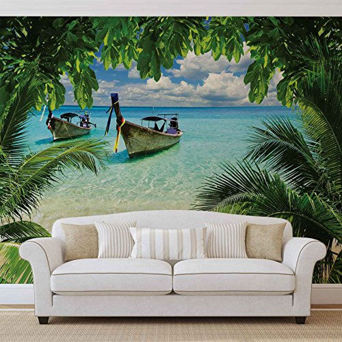 FORWALL Vlies Fototapete Tapete Vliestapete Tropen AF225VEXXL (312cm x 219cm) Photo Wallpaper Mural