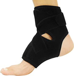 Vive Sprained Ankle Brace - Right and Left Foot Support for Men and Women - Adjustable Sleeve Wrap - Lightweight, Breathable Guard - Stabilizer for Running, Rolled Sprains, Swollen Tendonitis (S/M)