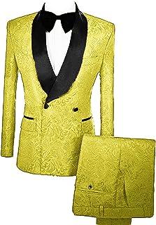 completo giacca e pantalone uomo giallo zafferano