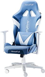 AutoFull Gaming Chair Racing Office Ergonomic High-Back Computer Chair PU Leather Desk Chair with Headrest and Lumbar Supp...