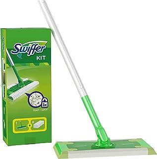 comprar comparacion Swiffer Mopa Kit De Inicio Con 1 Mango Y 8 Paños Secos De Recambio, Atrapa Y Retiene El Polvo