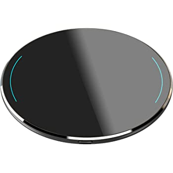 TOZO W1 Wireless Charger Thin Aviation Aluminum CNC Unibody Fast Charging Pad Black (NO AC Adapter)