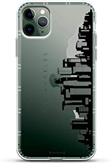 Landmarks: Los Angeles Black & White Skyline   Luxendary Air Series Clear case with 3D-Printed Design & Air Cushions for iPhone 11 MAX