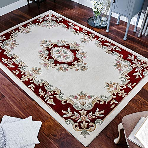 Royal Traditional Rugs Orientalische Perserteppiche, Creme/Rot, 120x180cm