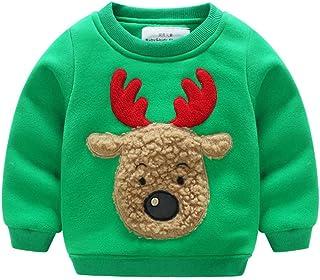 Fairy Baby Toddler Baby Boy Girl Christmas Fleece Sweatshirt Kid Reindeer Outfit Clothes