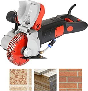ZXMOTO With 5PCS Saw Blades Wall Groove Cutting Machine 220V 4800W Wall Slotting Machine For Brick Granite Marble Concrete Cutter Notcher Groover, Not Support 110V