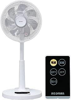 アイリスオーヤマ 扇風機 リビング扇風機 首振り 風量4段階 静音 DCモーター タイマー付 リモコン付 ロータイプ ホワイト 2019年モデル LFD-306L