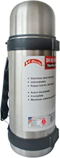 Bene Casa Thermos With Handle Strap 34 Oz Capacity Stainless Steel