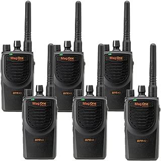 6 MagOne BPR40 By Motorola - UHF 4 Watt 8 Channel Radios(Black)