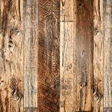 Brown Wood Peel and Stick Wallpaper 17.8' X 118.8' Self Adhesive Removable Decorative Film Wood Grain Wallpaper for Wall Covering Furniture Countertop Kitchen Christmas DIY