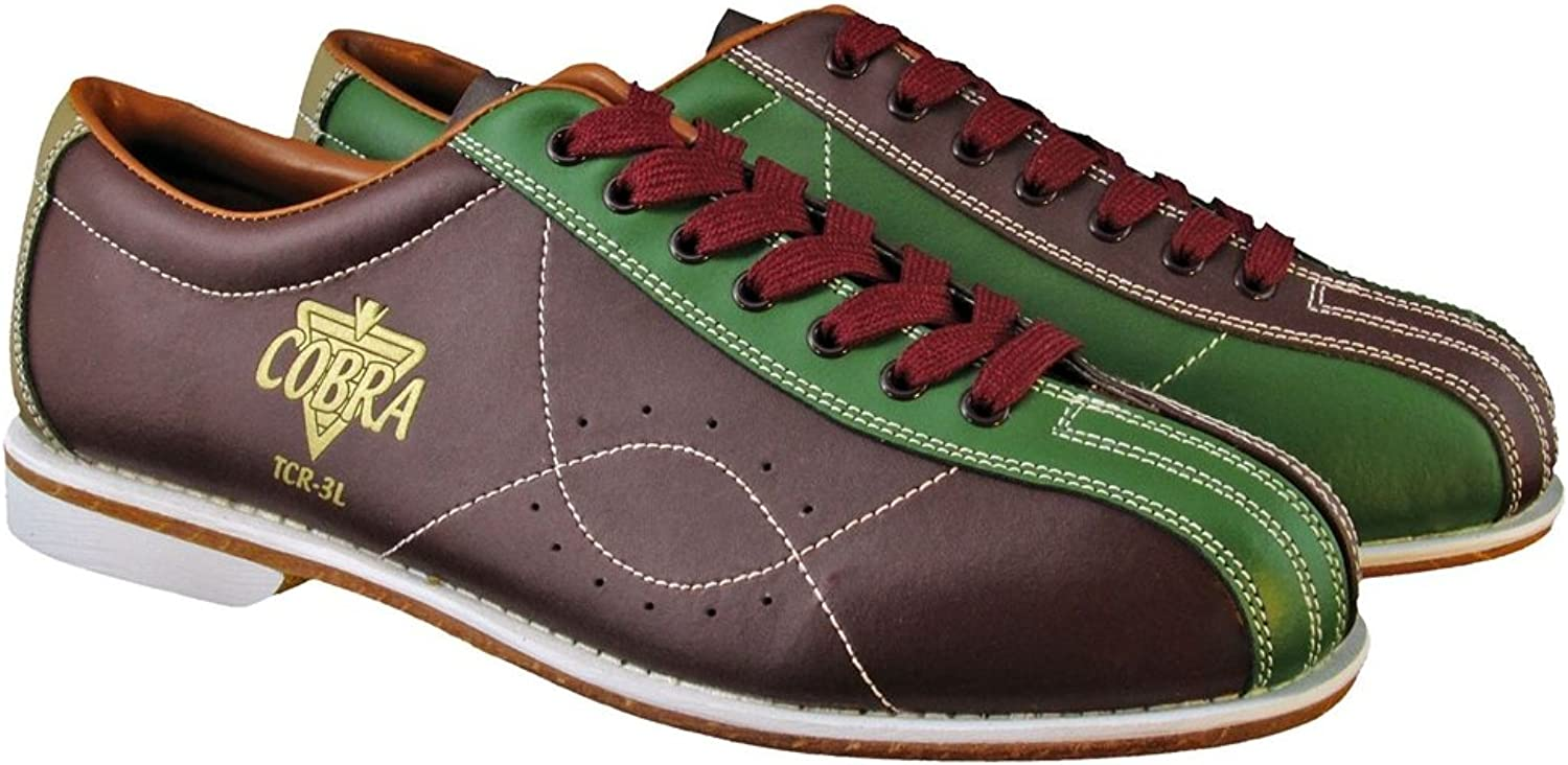 Bowlerstore Ladies TCR 3L Cobra Rental Bowling shoes Laces, 5 1 2 US M, Brown Green