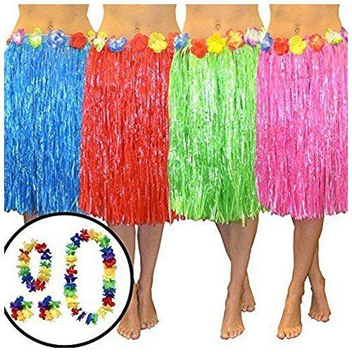 Wholesale Solutions A Costume Travestimento Gonna Hula Hawaiana per adulti - rosa