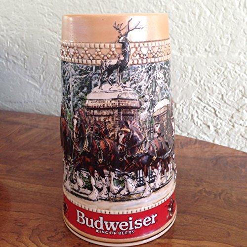 "Budweiser 1987 Anheuser-Busch Collector Series ""C"" Holiday Stein"