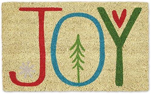 DII Indoor Outdoor Natural Coir Holiday Season Doormat 18x30 Joy product image