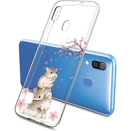 Oihxse Bumper Compatible pour Samsung Galaxy A41 Coque de Protection en TPU Souple et Cristallin Housse Fleurs de Cerisier Romantique Design Motif ...