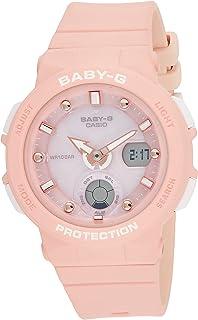 Casio Baby-G Alarm World Time Quartz Analog-Digital Pink Dial Ladies Watch BGA-250-4ADR