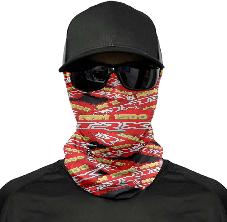2021 Ra-m 1500 TR-X Bandanas Face Mask Headband Head Cycling Outdoors Reusable Neck Gaiter Balaclavas Masks for Men Women White