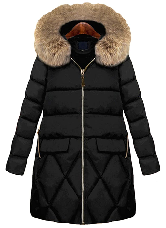 ZUOMAレディース ダウンコート 綿入れ上着 超軽量 オーバーコート 中綿ダウン ファッション フード付き