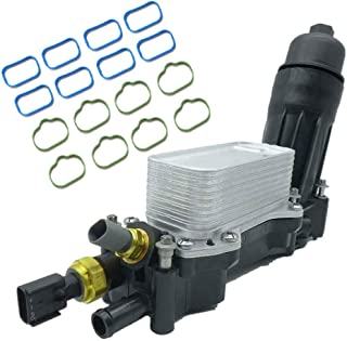 Caravan Dodge Challenger Grand Cherokee Wrangler 5184294AE Tepeng Engine Oil Cooler Filter Housing Adapter Assembly Including Sensor And Gaskets 2011-2013 3.6L V6 Town and Country