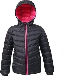 Girls' Ultra Lightweight Hooded Packable Puffer Down Jacket