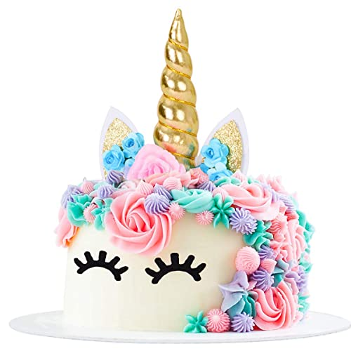 Unicorn Cake Toppers Set Of 6 Kids Birthday Party Decoration Supplies Kit