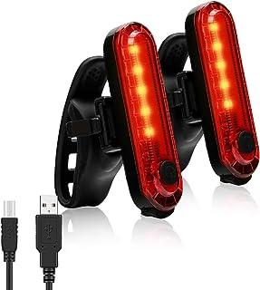 自転車テールランプ 2個セット 新型IP X-4防水 COBハイライトの4点灯モード 、持続持続航 USB充電式LEDランプ自転車テールランプ 屋外夜間照明 安全警告ランプ 夜間走行簡 設置 サイクリング部品