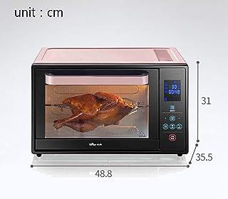 ZJJL Horno doméstico de 30L con ajuste de temperatura 0-230 ° C y sincronización inteligente 1600W Horno de doble puerta de vidrio