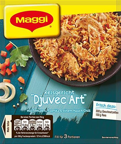 Maggi fix & frisch, Reis Djuvec Art, 31 g Beutel, ergibt 3 Portionen , 20er Pack (20 x 31g)