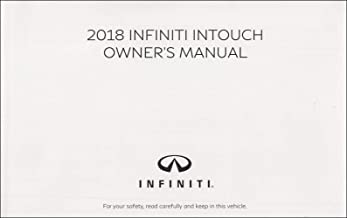 2018 Infiniti Q50 Q60 InTouch Navigation System Owner's Manual Original