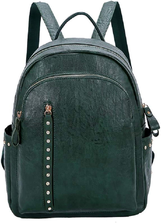Damen Rucksack, British Style Rucksack, Weiches Leder Casual Rucksack, Wild Campus Student Bag