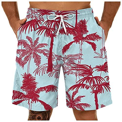 Alueeu Badehose Herren Jungen Badeshorts Männer Kurz Schnelltrockend Beachshorts Boardshorts Strandhose Sporthose Freizeitshorts c2