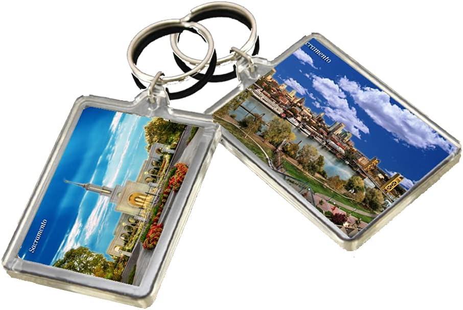 KR040 Sacramento City Keychain United States Travel Photo Keyring