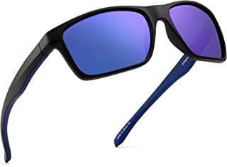 44b99f94fde Polarized Sports Sunglasses Mirror Wrap Around Driving Fishing Men Women