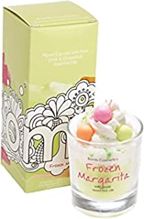 Bomb Cosmetics Frozen Margarita Piped Glass Candle with Essential Oils